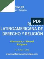 Revista Latinoamericana de Derecho y Religion (2016) Vol 02 n° 01 - Educación y Libertad Religiosa