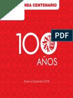 Agenda anual 2018 Centenario