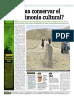 111115 Publimetro - Como Conservar El Patrimonio Cultural