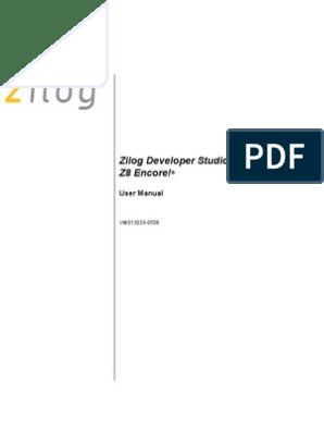 zilog developer studio ii z8 encore