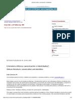 Literatura Chilena_ Canonización e Identidades