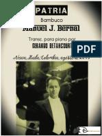 PATRIA. Bambuco. Manuel J. Bernal. Transc. para piano Gerardo Betancourt.