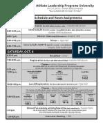 SOMO ALPs University Schedule Oct. 2018