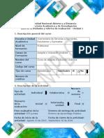 Guía de Actividades y Rúbrica de Evaluación - Unidad 1