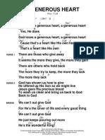 Un corazon generoso