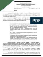 Documento do Metrô-DF trata sobre retenção de repasse