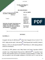Asian Cathay Finance and Leasing Corporation vs. Spouses Cesario Gravador and Norma de Vera,Et. Al,