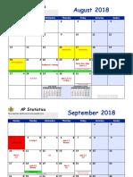 AP Statistics 2018-2019 School Year Calendar