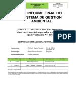 Informe de Cierre de Medio Ambiente Rasmin Mineria y Construccion 2018