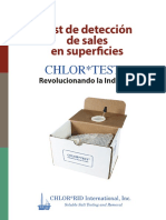 prueba para determinacion de sales en superficies