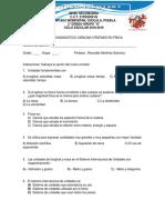 EXAMEN Diagnostico 1 FÍSICA
