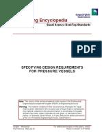 Specifying Dsg Requirements of Pr Vessel
