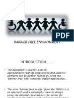 Barrier Free Environment