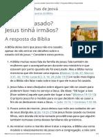 Jesus Era Casado_ Jesus Tinha Irmãos_ _ Perguntas Bíblicas Respondidas