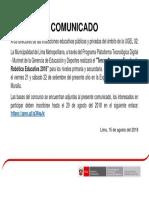 Comunicado Muni 2018