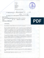 Ordenanza Municipal 0047