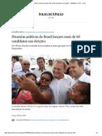 Dinastias Políticas Do Brasil Lançam Mais de 60 Candidatos Nas Eleições - 19-08-2018 - Poder - Folha