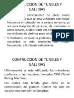 Construcción de Túneles y Galerías