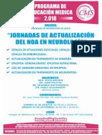 Afiche Jornadas de Actualizacion Del NOA en Neurologia