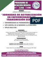 Afiche Jornadas de Actualizacion en ETS 07 y 08 de Septiembre Circulo Medico de Salta