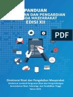 Buku Panduan Pelaksanaan Penelitian dan Pengabdian kepada Masyarakat Edisi XII.pdf