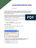 Cara Mempercepat Koneksi Internet Tanpa Software