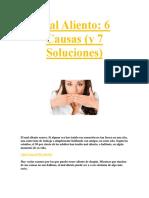 Adios Al Mal Aliento PDF GRATIS.
