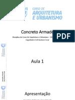 Concreto Armado Aulas 1, 2 e 3
