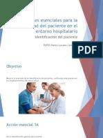 Acciones Esenciales Para La Seguridad Del Paciente En