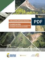 CLASIFICACIÓN DE MOVIMIENTOS EN MASA -INGEOMINAS