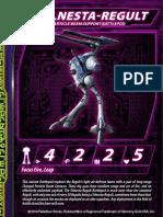 Zentraedi Telnesta-Regult Variant Battlepod Stat Card for Robotech RPG Tactics