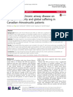 The Impact of Chronic Airway Disease on Symptom Severity and Global Suffering in Canadian Rhinosinusitis Patients