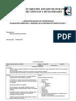Planeacion en Competencias en La Materia de Computacion i1