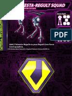 Zentraedi Telnesta-Regult Squad Support Card for Robotech RPG Tactics