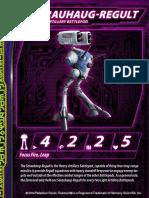 Zentraedi Serauhaug-Regult Heavy Artillery Battlepod Stat Card for Robotech RPG Tactics