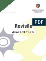 Revisão (Aulas 09, 10, 11 e 12)