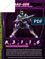 Zentraedi Serau-Ger Heavy Infantry Stat Card for Robotech RPG Tactics