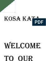 KOSA KATA