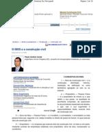 O INSS E A CONSTRUÇÃO CIVIL