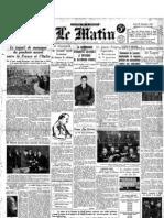 Le Matin - 19 Dicembre 1934
