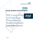 NHS County Durham and Darlington Pharmaceutical Needs Assessment - County Durham