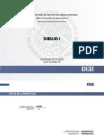 Dibujo I DGB - Programa de Estudios 2018