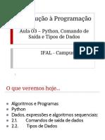 INPR - Aula03 - Python Dados e Expressoes