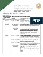 Plan de Clase de Historia (2018-2019)