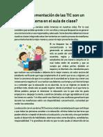 Implementación TIC en el aula