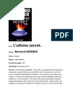 L'ultime secret de Bernard Werber.pdf