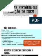 História Na Redação Do ENEM