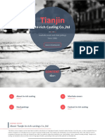 Company Profile- Tianjin Inrich Casting 2017
