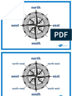 Compass Points Display Posters
