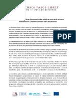 Comunicado de Prensa - BlueHack Pasos Libres
